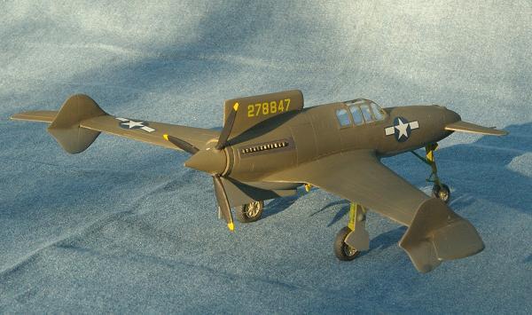 Ccurtiss xp-55 ascender model uçak fotoğrafı
