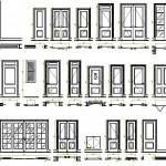 İç kapı plan ve görünüş çizimleri