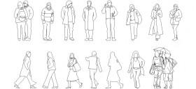 kislik-elbiseli-insan-figurleri-dwgindir