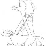 Köpekli adam çizimi