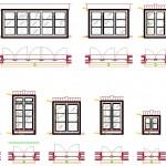 Pencere plan ve görünüş çizimleri