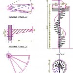 Spiral merdiven teknik çizimi