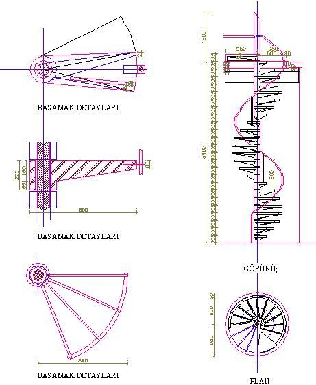 spiral-merdiven-teknik-cizimi-dwgindir