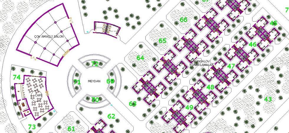 Spor merkezi projesi planı yakından görünüş 1