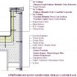 Yürünmeyen konvansiyonel teras çatı detayı
