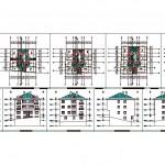 5 katlı apartman projesi