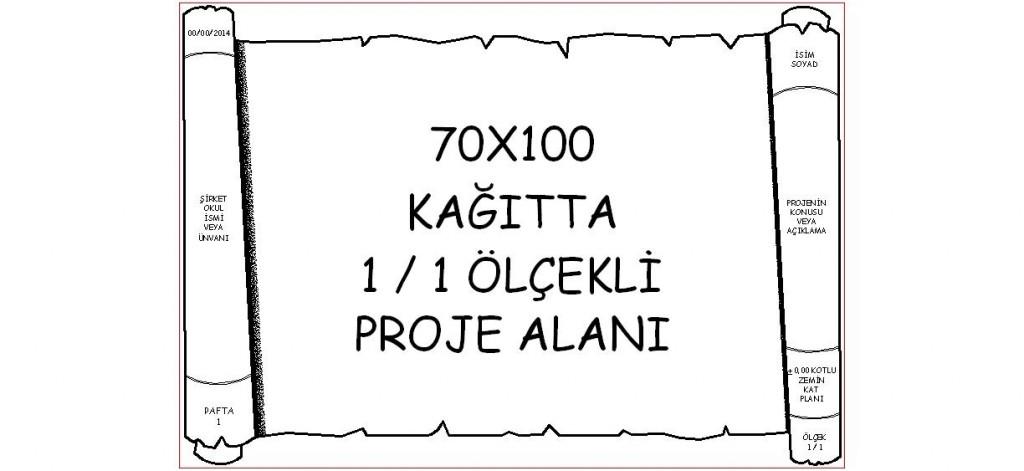 70×100 Hazır pafta yakından görünüş