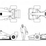 F1 yarış arabası çizimi