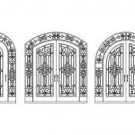 Ferforje giriş kapısı çizimleri