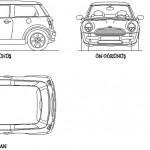 Mini cooper autocad çizimi