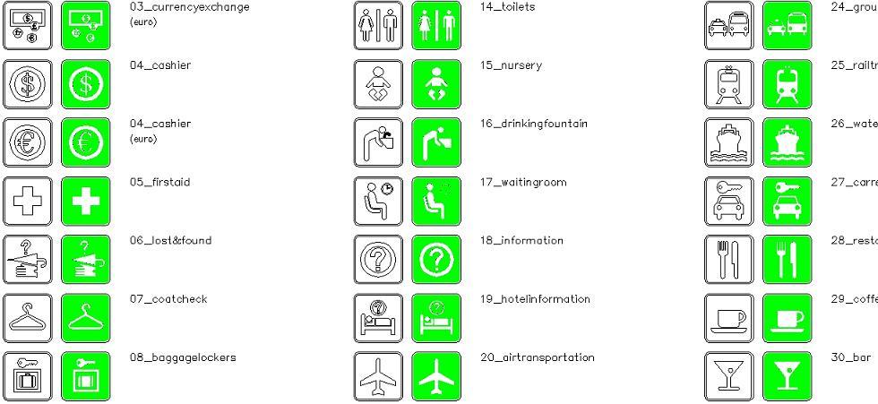 Önemli semboller ve anlamları yakından görünüş