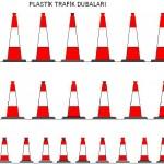 Plastik trafik dubaları autocad