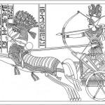 Ramses temalı mısır duvar figürleri