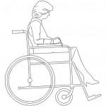 Tekerlekli sandalye yan görünüş çizimi