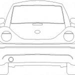 Volkswagen beetle görünüş çizimi