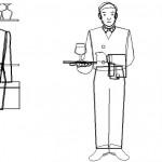 Garson tefrişi çizimleri