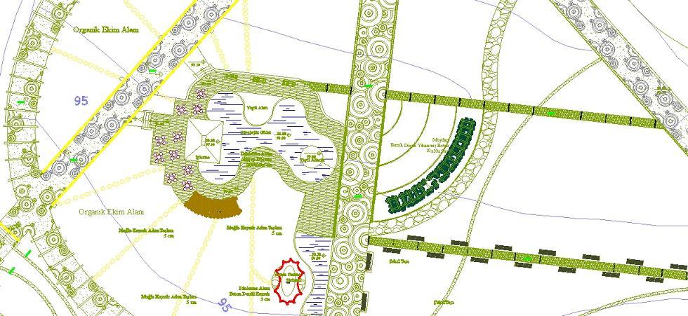 Kentsel park planı yakından görünüş