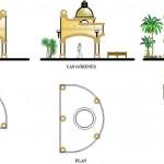 Yarım daire şeklinde gazebo projesi