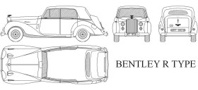 bentley r type klasik otomobil www.dwgindir.com