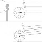 El arabası autocad çizimi