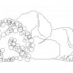 Autocad kaya çizimi