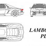 Lamborghini Plaza autocad çizimi