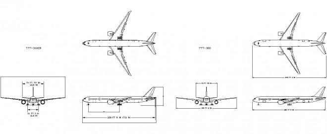 Boeing 777 uçak çizimi