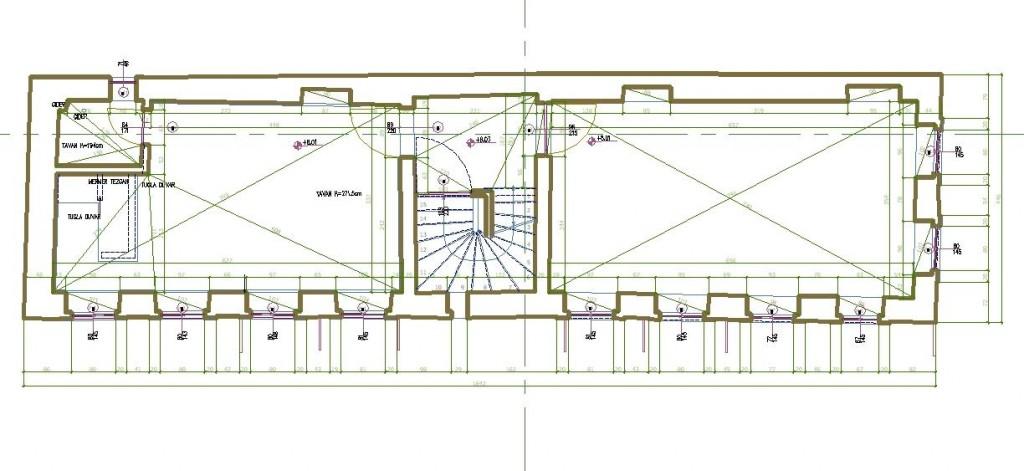 Rölöve ve restitüsyon projesi kat planı yakından görünüş
