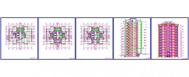 2+1 daireli apartman projesi www.dwgindir.com 1