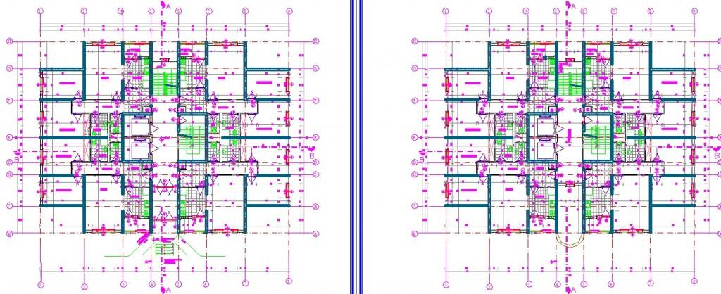 2+1 daireli apartman projesi kat planları yakından görünüş