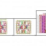 3+1 daireli apartman projesi