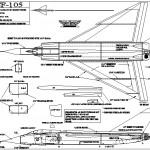 Avro cf 105 model uçak parça çizimi
