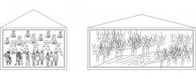 Duvar tablosu çizimleri www.dwgindir.com
