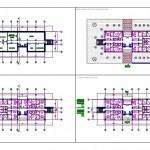 Mimari toplu konut projesi planı