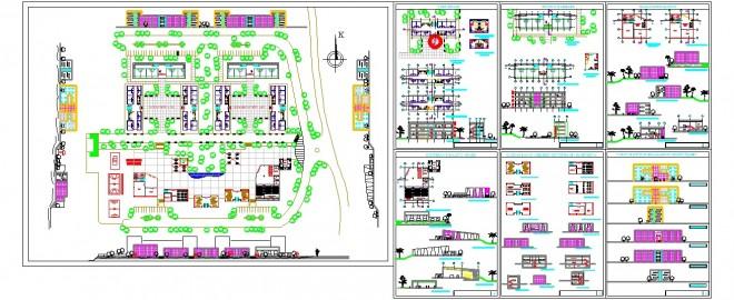 Öğrenci yurdu mimari projesi www.dwgindir.com