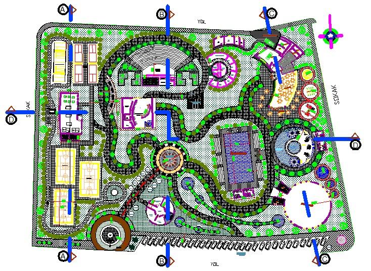 Park planı yakından görünüş
