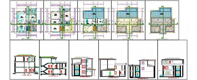triplex villa projesi dwgindir.com 1
