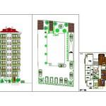 9 katlı apartman projesi