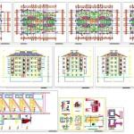 Her katta 4 daireli mimari proje